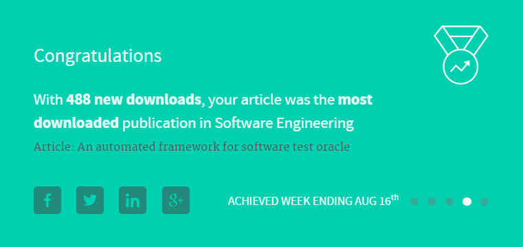 Most Downloaded Researcher in Software Engineering
